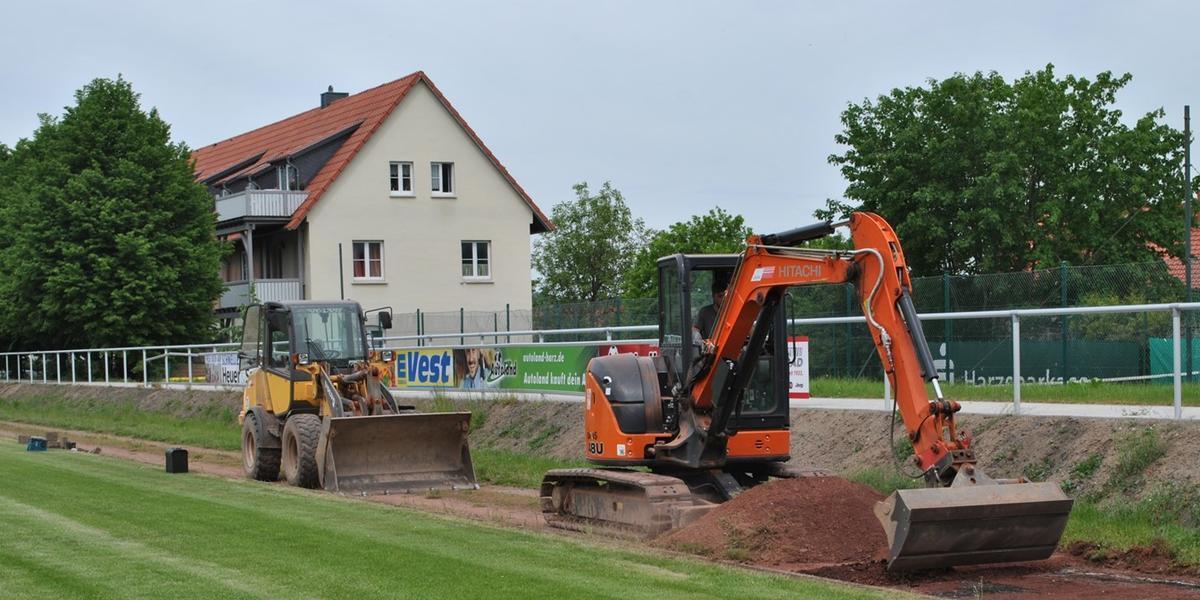 Baumaßnahmen Sportplatz Ilsenburg