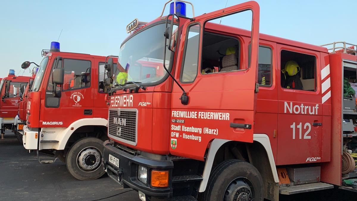 Tanklöschfahrzeug auf dem Bereitstellungsplatz Nürburgring