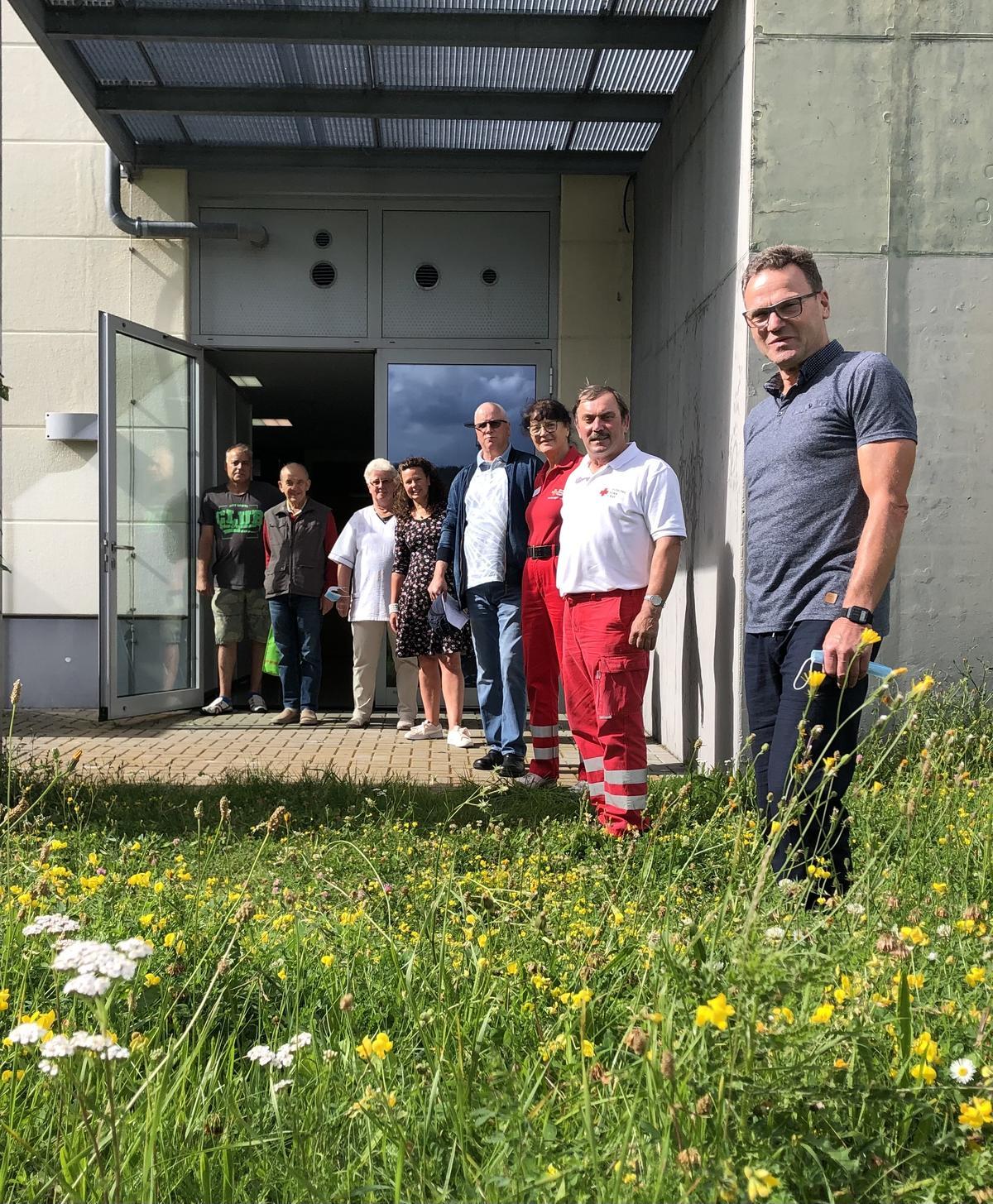 Team der Impfstation Harzlandhalle